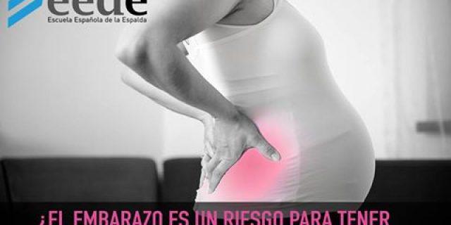 ¿El embarazo es un riesgo para tener dolor de espalda?
