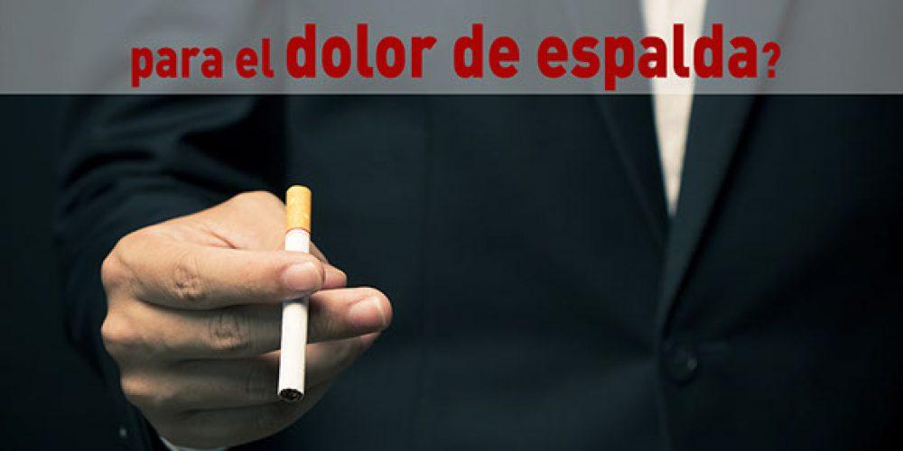 ¿Es cierto que fumar es malo también para el dolor de espalda?
